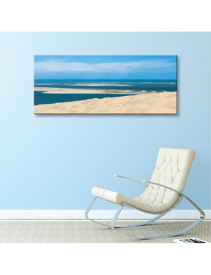 Tableau toile banc d 39 arguin et dune du pilat vertikale for Toile a bassin