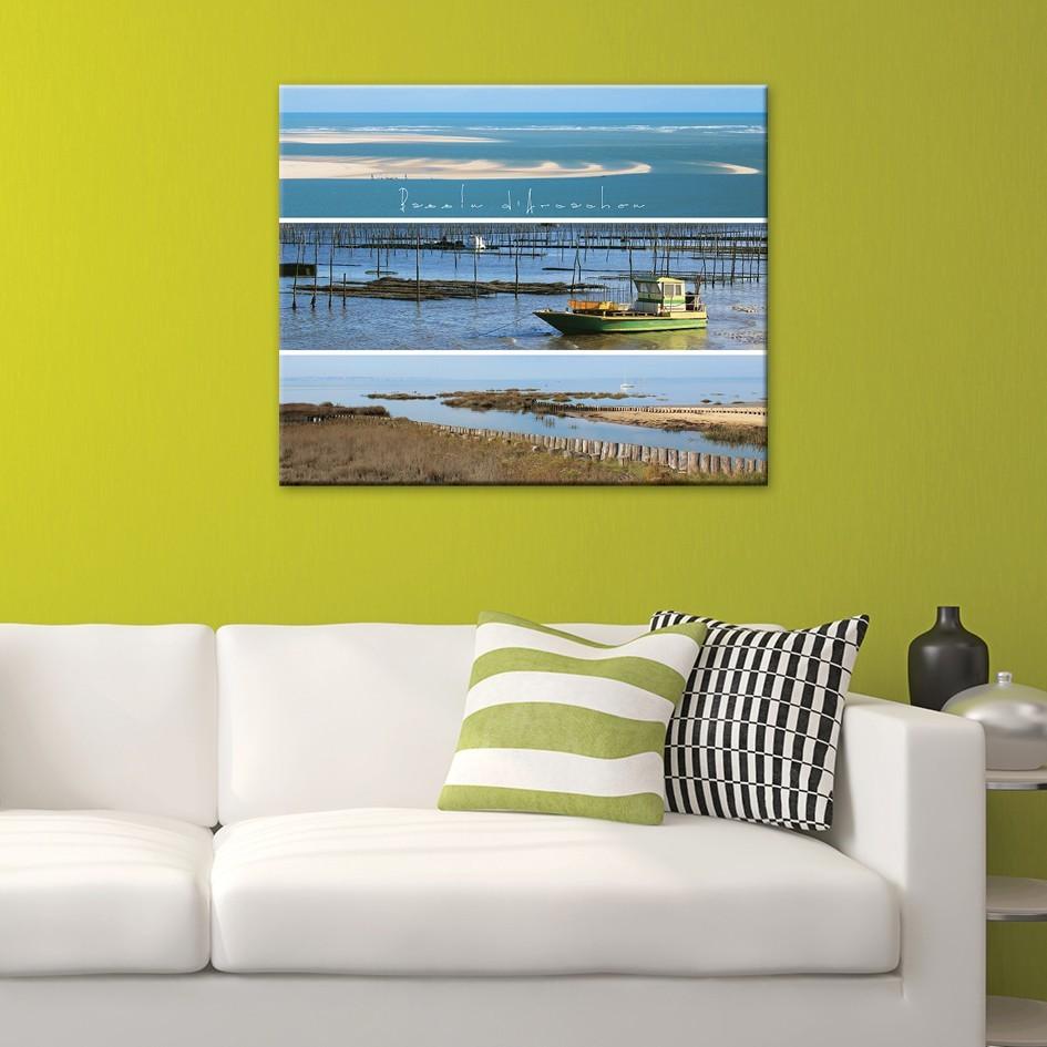 tableau toile photos panoramiques bassin d 39 arcachon. Black Bedroom Furniture Sets. Home Design Ideas