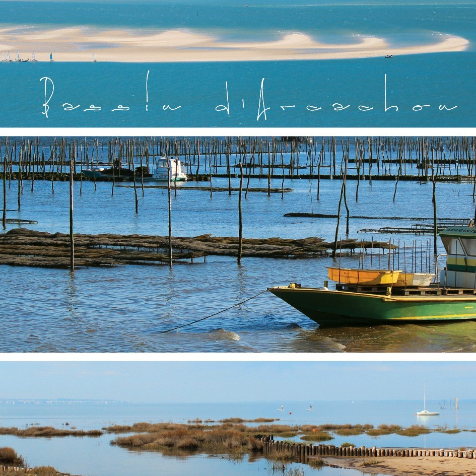 Tableau toile photos panoramiques bassin d 39 arcachon for Toile a bassin