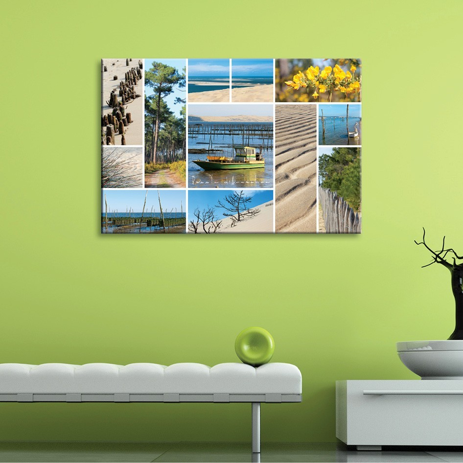 Tableau toile photos nature bassin d 39 arcachon vertikale for Decoration murale ville