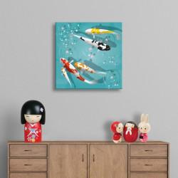 tableau-toile-enfant-illustration-carpes-koi-asiatiques