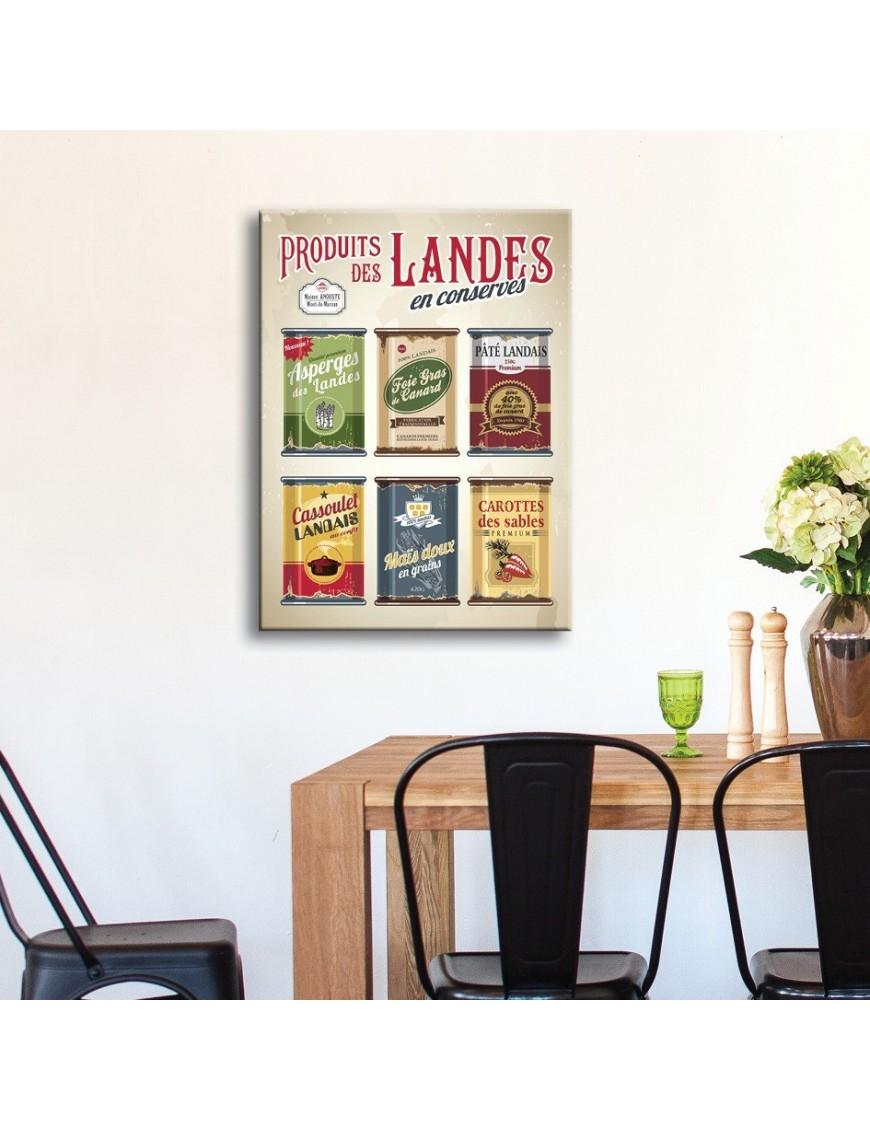 tableau-toile-boites-de-conserves-landaises-vintages