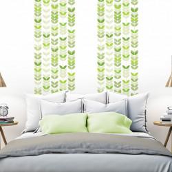 papier peint scandinave nature feuilles vertes. Black Bedroom Furniture Sets. Home Design Ideas