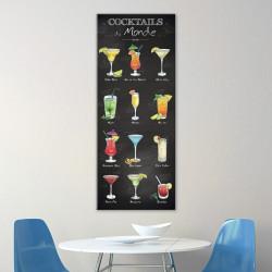 tableau-toile-illustrations-cocktails-et-recettes