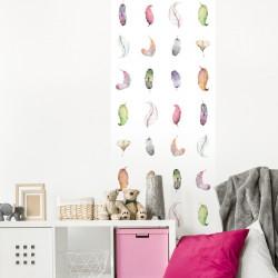 papier-peint-motif-plumes-aquarelle