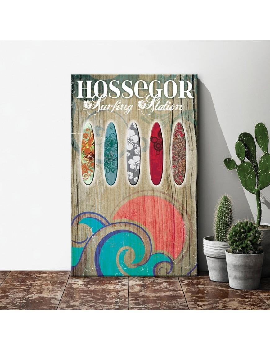 tableau-toile-vintage-hossegor-surfing-station