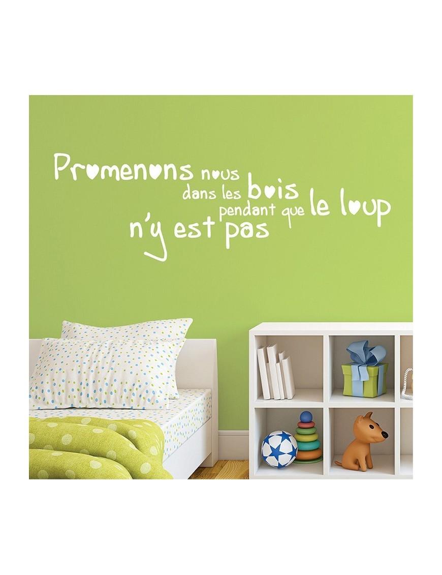 autocollant mural enfant citation comptine vertikale d coration m. Black Bedroom Furniture Sets. Home Design Ideas