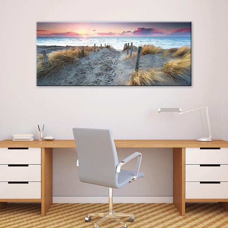 tableau toile sud ouest coucher de soleil sur la c te landaise ve. Black Bedroom Furniture Sets. Home Design Ideas