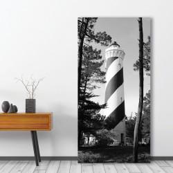 tableau-alu-paysage-noir-et-blanc-phare-contis-landes