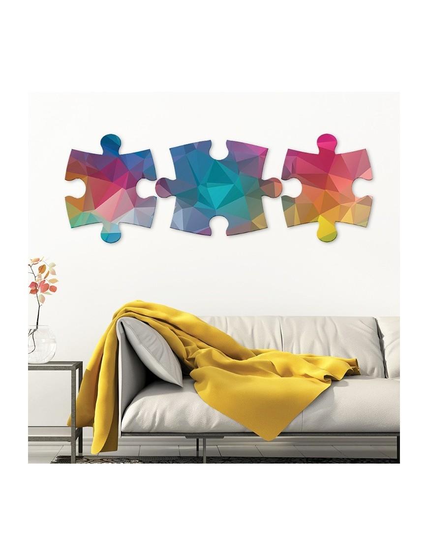 objet d co d coup pi ces de puzzle origami vertikale d coration. Black Bedroom Furniture Sets. Home Design Ideas