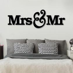 Objet déco découpé lettres Mr & Mrs