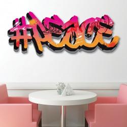 Déco murale découpée Graffiti Peace