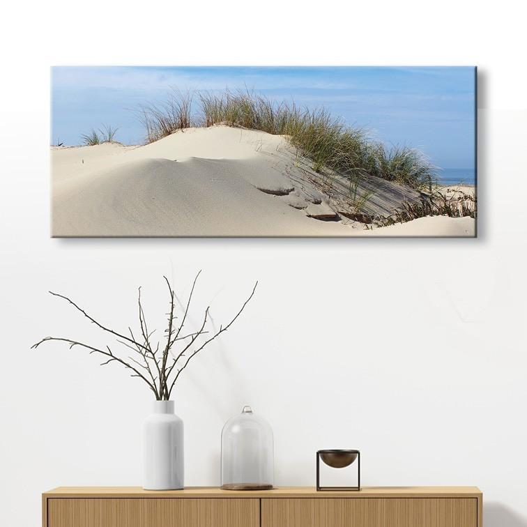 tableau toile dune de sable c te atlantique sud ouest vertikale d. Black Bedroom Furniture Sets. Home Design Ideas