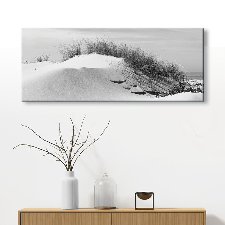 tableau toile dune de sable c te atlantique sud ouest vertikale d. Black Bedroom Furniture Sets. Home Design Ideas