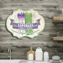 plaque-alu-déco-cuisine-asperges-des-landes