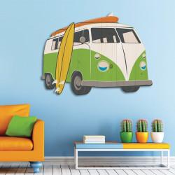 décoration-murale-alu-mini-van-rétro-effet-bois
