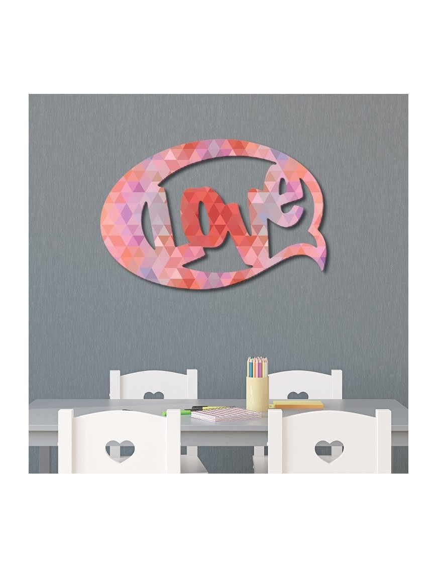 Forme d corative bulle bd love origami vertikale d coration murale - Origami decoration murale ...