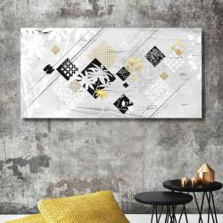 tableau-alu-contemporain-effet-bois-noir-blanc-or