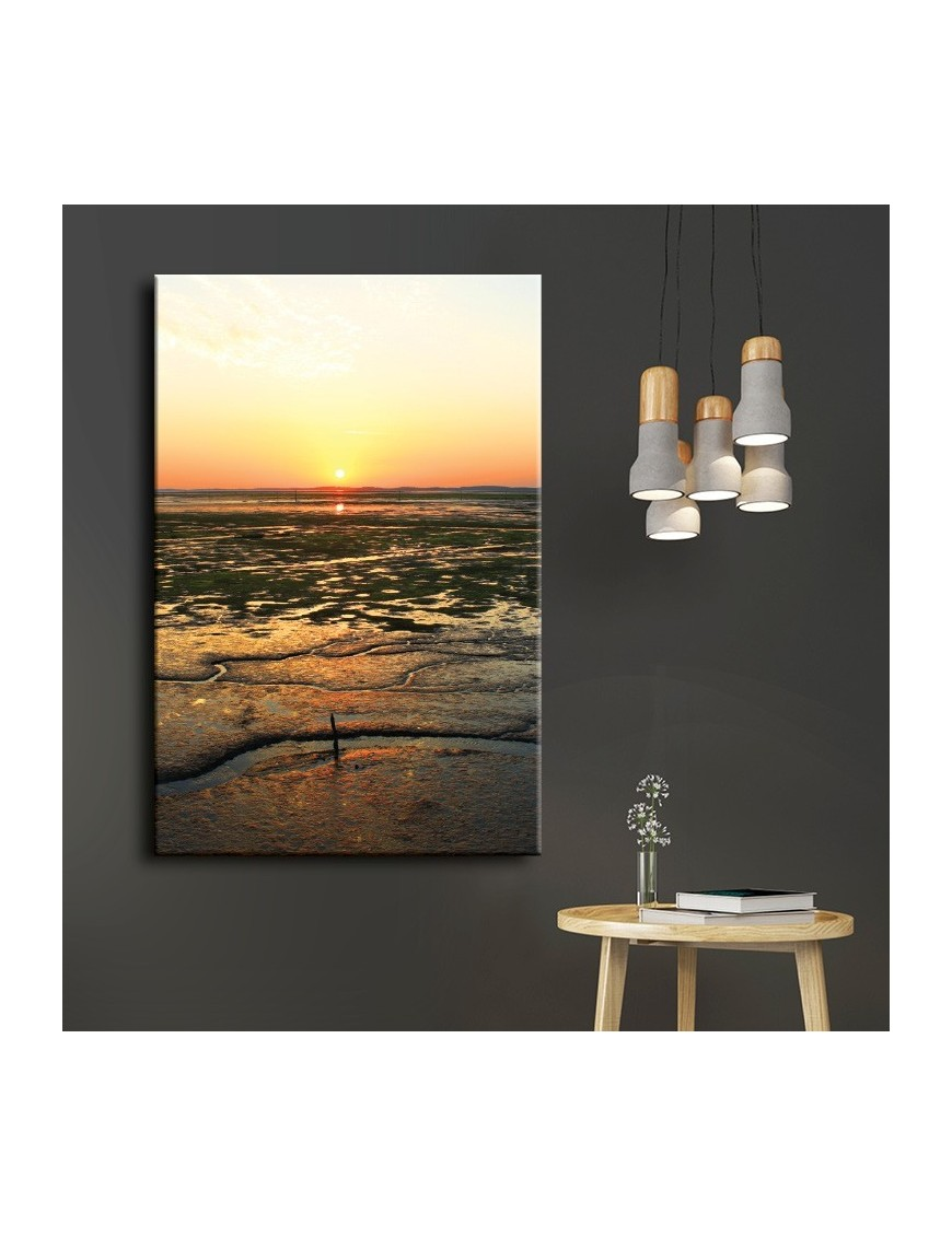 Tableau toile coucher de soleil bassin d 39 arcachon for Toile a bassin