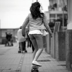 Tableau Déco Skater Girl Noir et Blanc