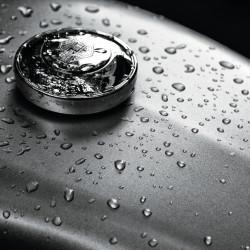 Tableau Déco American Motorcycle in the Rain Noir et Blanc