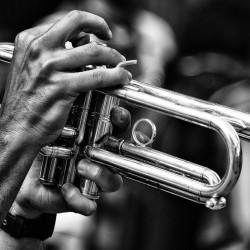 Tableau Déco Trumpet Player Noir et Blanc
