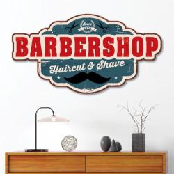 Plaque Déco BarberShop en Alu