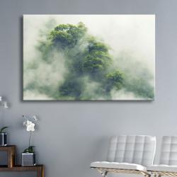 tableau-toile-forêt-brume