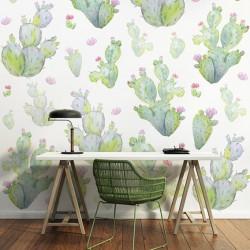 papier-peint-cactus-aquarelle-pastel
