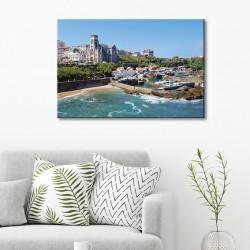 tableau-toile-cathédrale-de-biarritz-paysage-plage