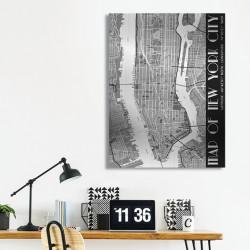 tableau-déco-plan-new-york-noir-et-blanc