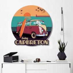 tableau-déco-surfing-capbreton-combi-vintage