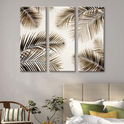 tableau-toile-triptyque-feuilles-de-palmier