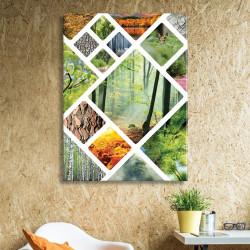 tableau-toile-mosaïque-photos-foret-sud-ouest