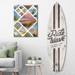 planche-de-surf-deco-ride-the-wave-hossegor-effet-bois-blanchi