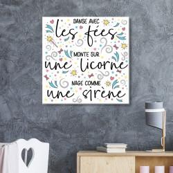 tableau-toile-fées-licorne-sirène