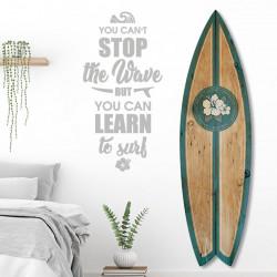 planche-de-surf-alu-effet-bois-motif-hawaï