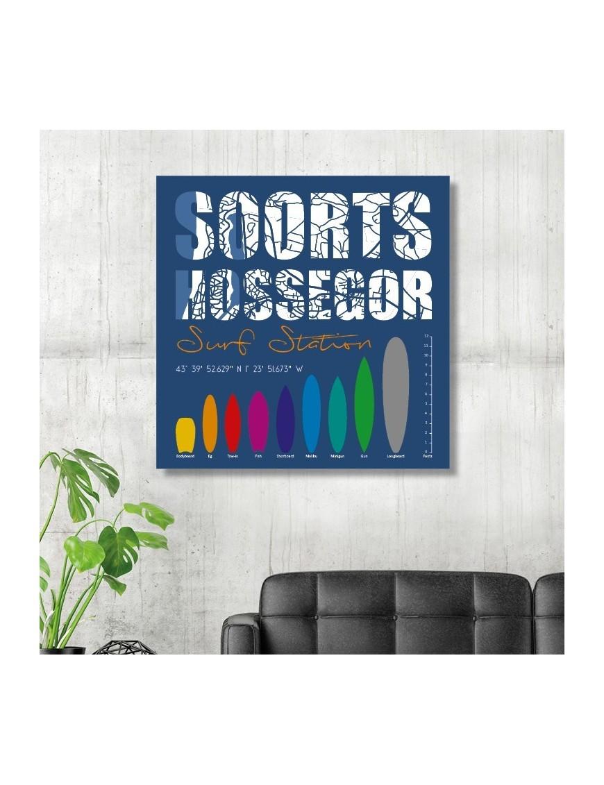tableau-deco-soorts-hossegor-surf-station-bleu