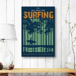 tableau-toile-retro-surfing-sun-sand-sea
